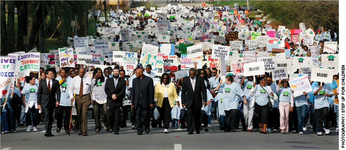 More than 5,500 people marched to Tallahassee in March 2010 to support scholarship tax credits