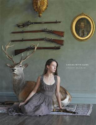 "Image: ""Chicks with Guns"" book cover"
