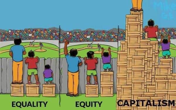 """Equality Equity Capitalism"" meme"