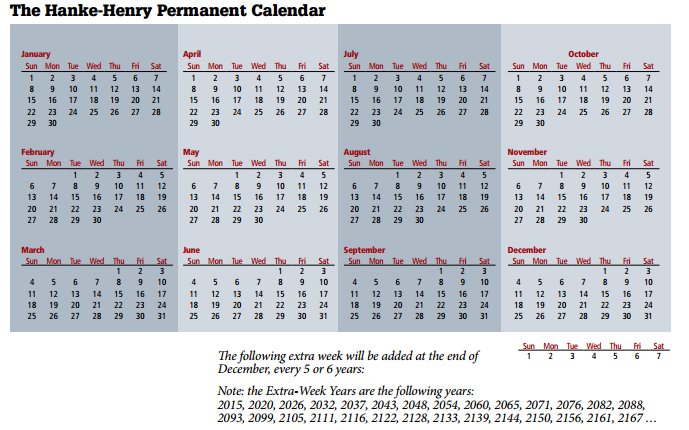 calendar — but not just any calendar — that was at the top of my ...