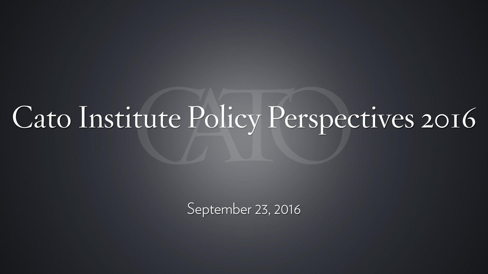 cato institute events