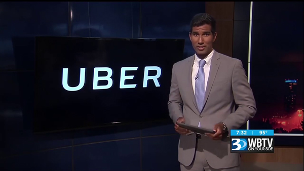 Matthew Feeney's research on Uber safety is cited on CBS