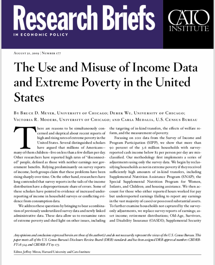 The Use and Misuse of Income Data and Extreme Poverty in the United