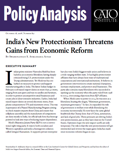 QnA VBage India's New Protectionism Threatens Gains from Economic Reform