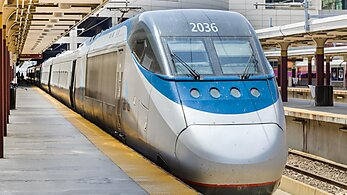 Acela train at a station