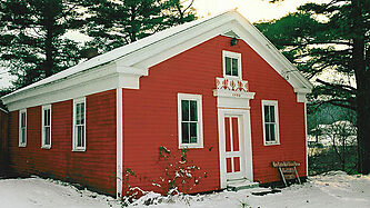 A little red schoolhouse