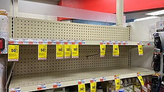 CVS shelves for hand sanitizer completely empty