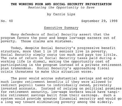Social cecurity privatization essay
