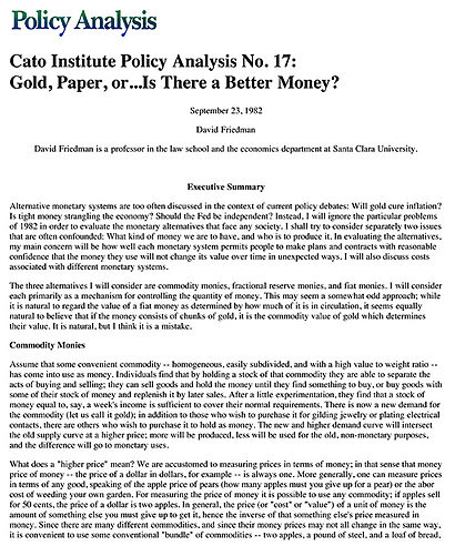Policy issue paper example
