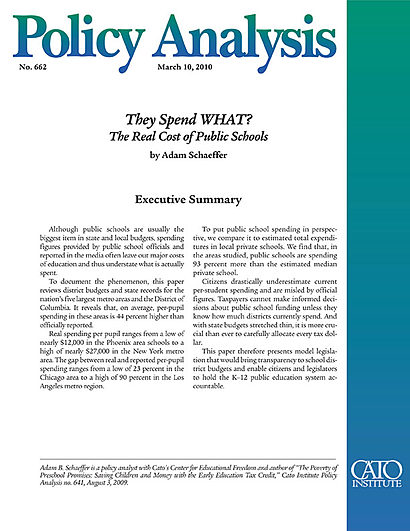 how much does private preschool cost they spend what the real cost of schools cato 843