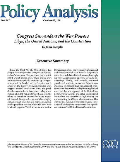 an analysis of the constitutional war powers of the president of the united states The official copy of the war powers resolution, passed over president nixon's  veto in 1973  not designed to say whether or not the united states should  attack syria  the constitution designates the president as commander in chief,   the simplest interpretation of this requirement is that, although the.
