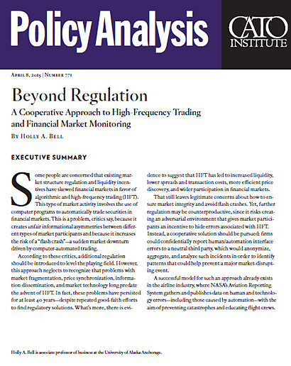 beyond regulation a cooperative approach to high