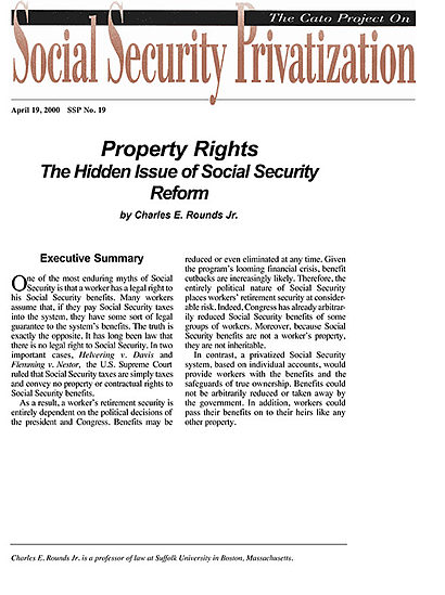 Social security reform research papers