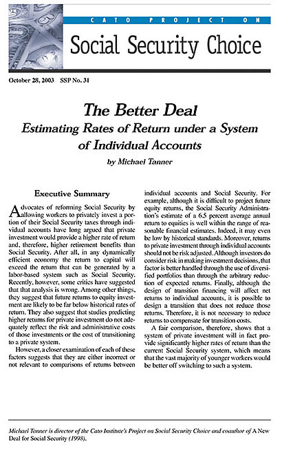 an argument that privatization in the better option than social security The return on social security is pitifully low, they complain, an argument appealing to younger voters who are just starting to pay into the system they have more experience than their elders in playing the stock market where there can be higher returns.
