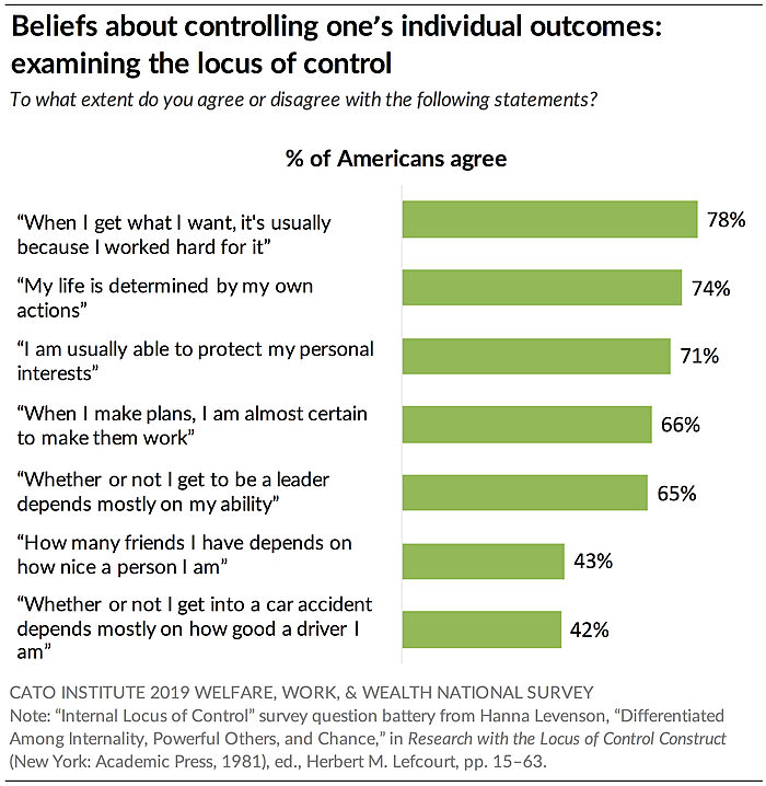 Beliefs about controlling one's individual outcomes: examining the locus of control