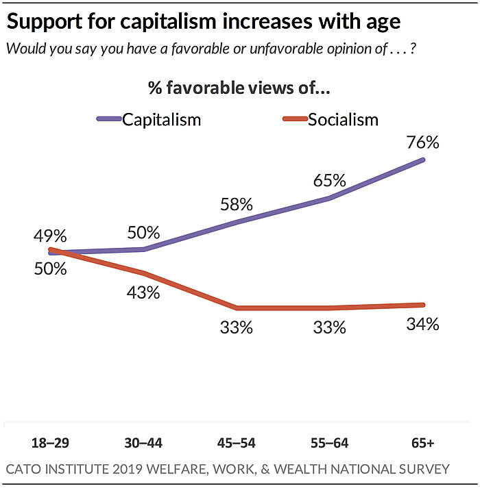 Support for capitalism increases with age