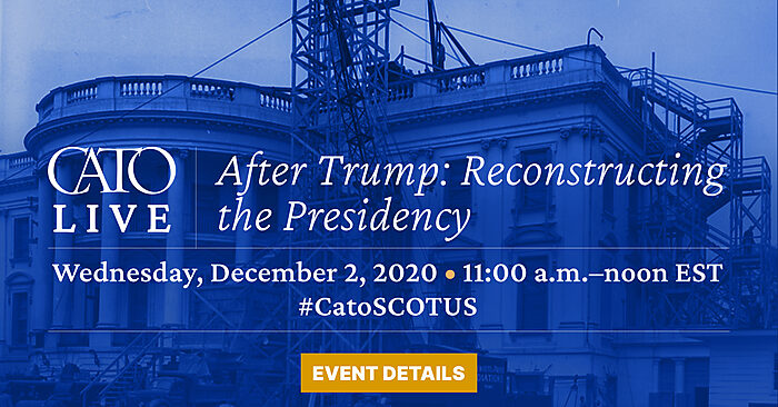 Event name and date -- Wednesday, December 2nd, 2020, 11am - noon -- in front of a picture of the White House under construction