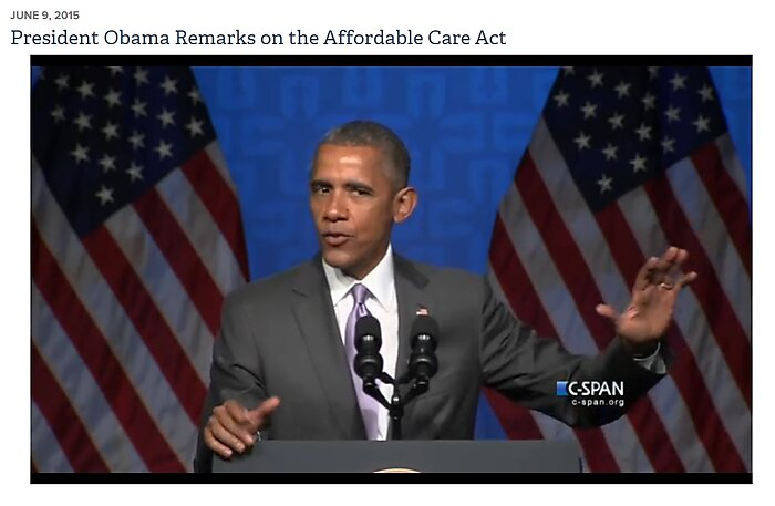 President Obama delivers a speech on health care to the Catholic Health Association.