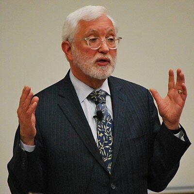Judge Jed Rakoff delivers a lecture.
