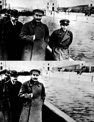 The commissar vanishes from Stalin photo