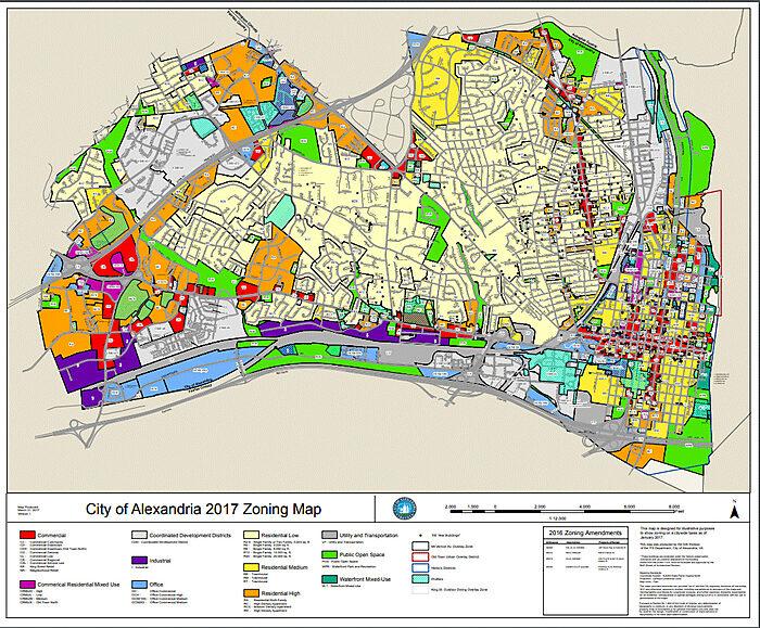 Alexandria Zoning Map