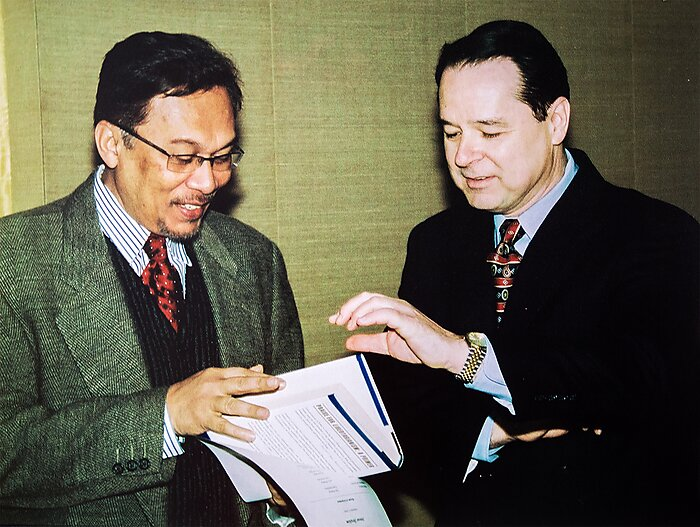 Anwar Ibrahim and David Boaz