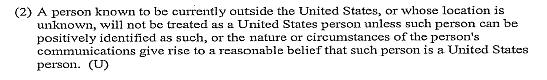 FISA Section 702 NSA minimization procedures extract 2