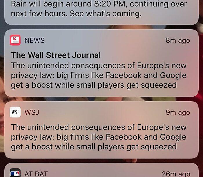 WSJ on Regulation