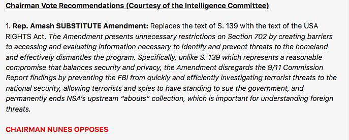 GOP Whip Scalise email on FISA Sec. 702 alternative