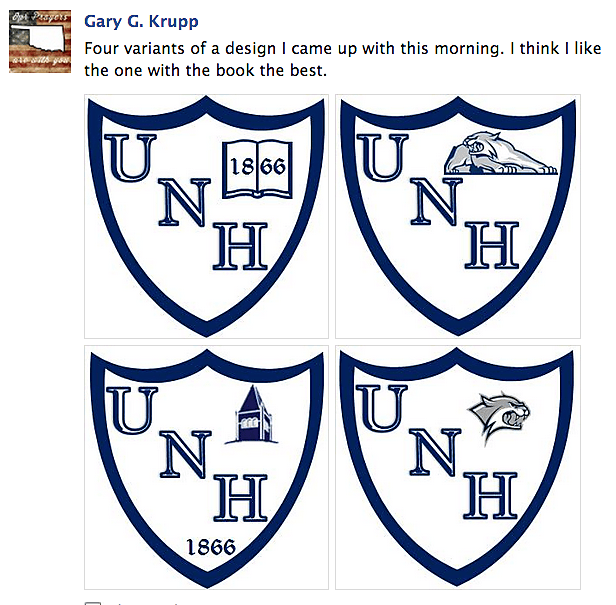 Crowdsourced UNH logo designs