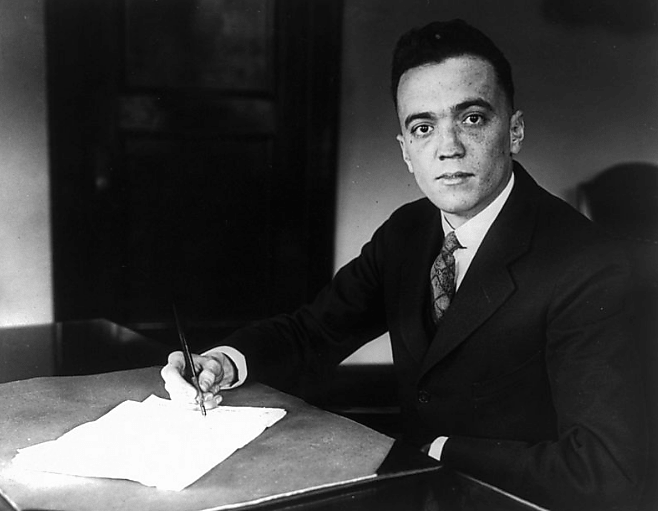 A Young J. Edgar Hoover.