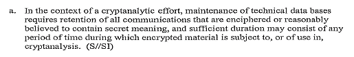 Extract of FISA Section 702 NSA minimization procedures