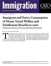 Immigrant and Native Consumption of Means-Tested Welfare and Entitlement Benefits in 2016 cover