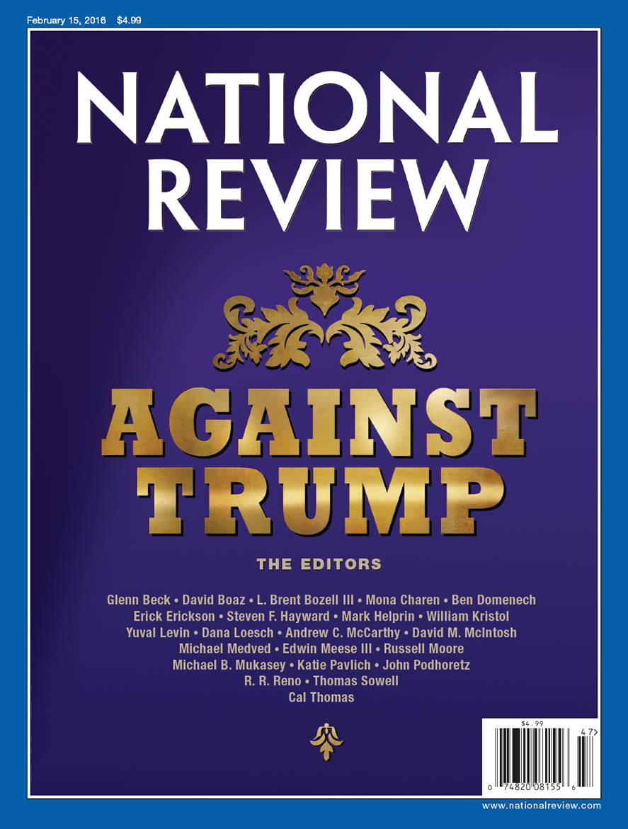 "National Review cover ""Against Trump"""