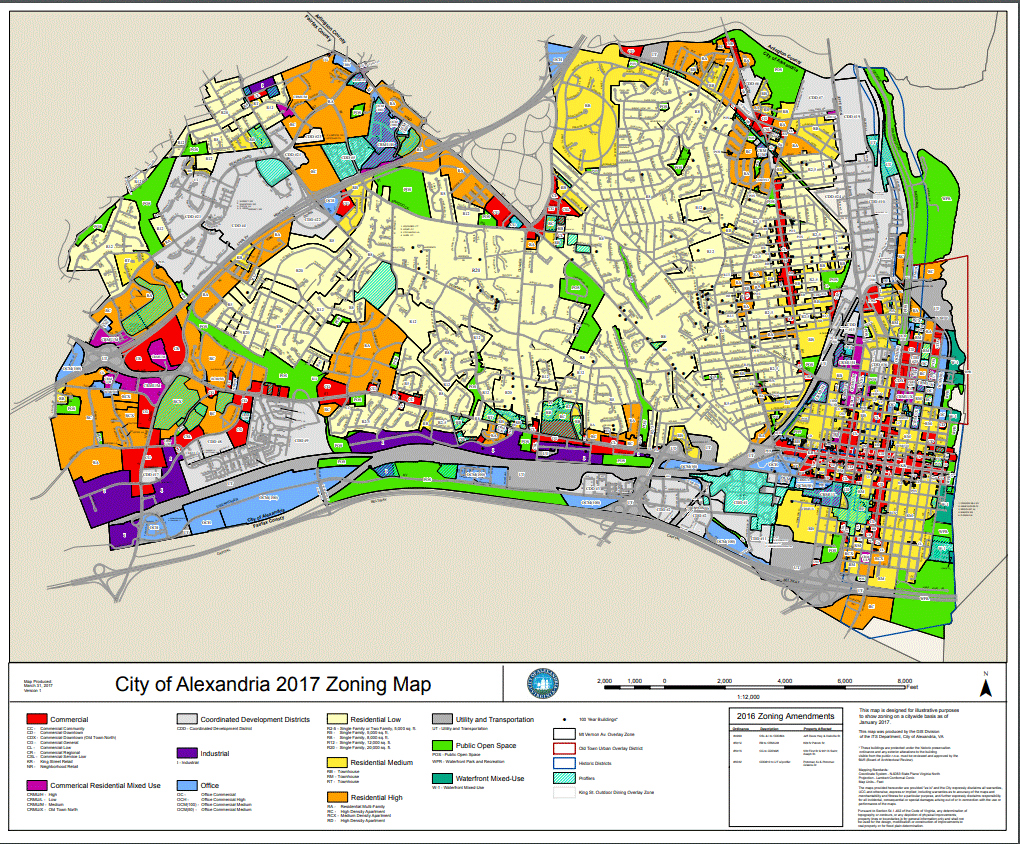 Alexandria Zoning Map