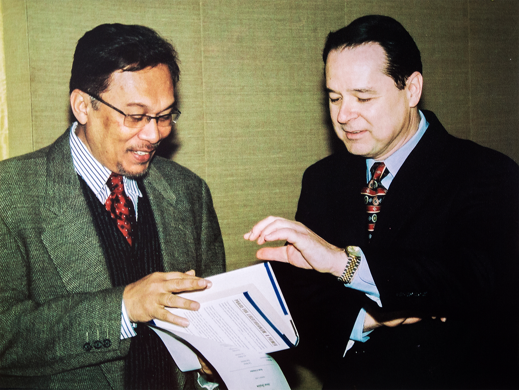 Anwar Ibrahim and David Boaz