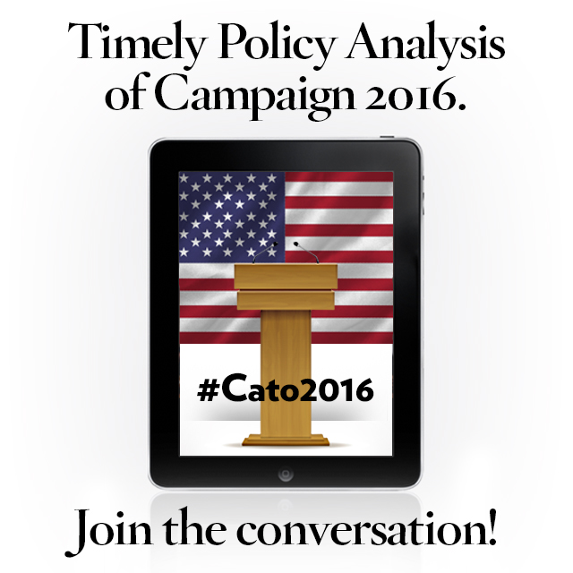 Join the conversation on Twitter with #Cato2016.