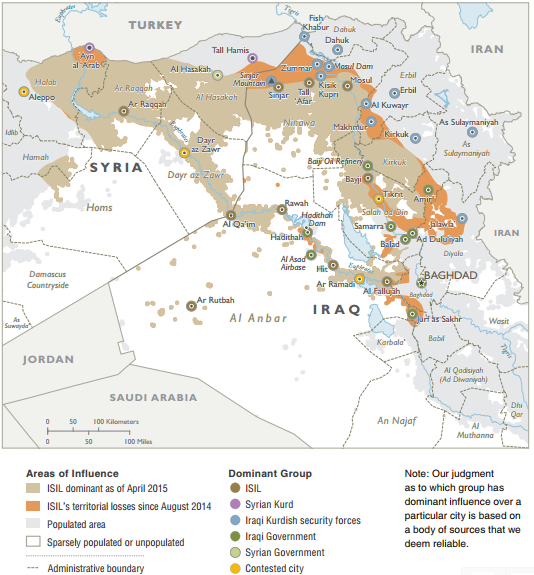 DoD Map of Syria and Iraq