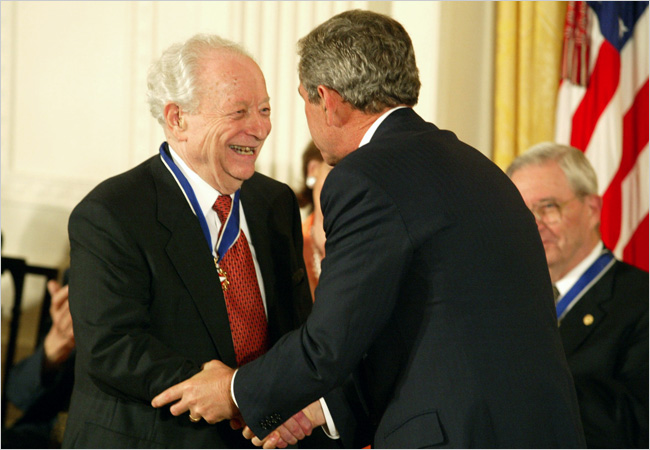 Irving Kristol's Medal of Freedom Award (Paul Hosefros/The New York Times)
