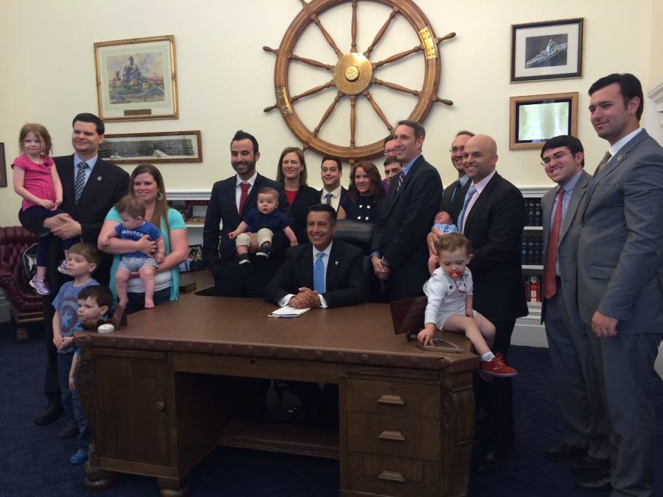 Gov. Sandoval signs the nation's first nearly universal ESA program into law. Photo courtesy of Tim Keller.