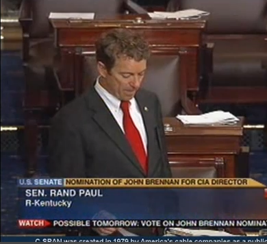 C-SPAN footage of Rand Paul's filibuster