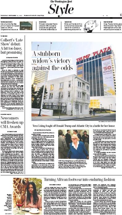 Washington Post on Donald Trump and Vera Coking